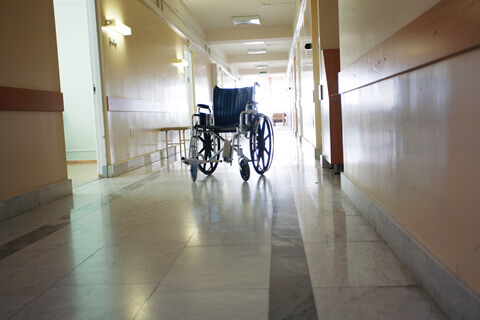 empty wheelchair nursing home negligence